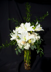 Classic white Casablanca Lilies